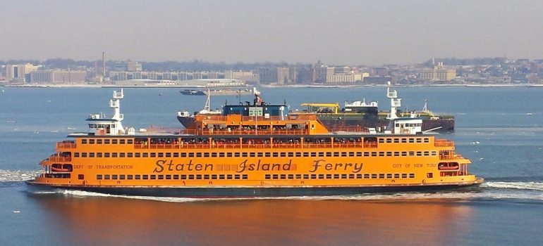 a ferry that local movers Staten Island use for transport sometimes