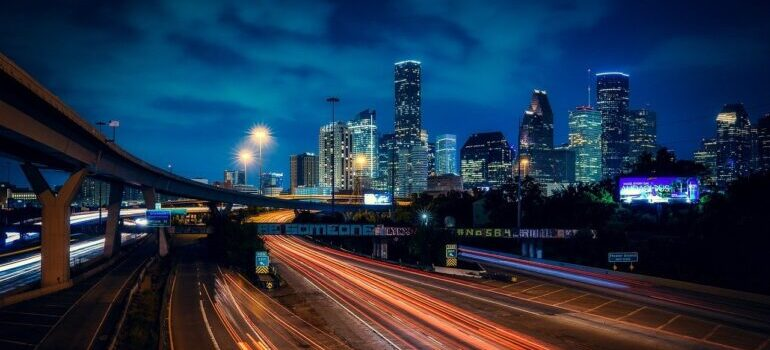 an image of Dallas, TX as a symbol of moving from NY to TX
