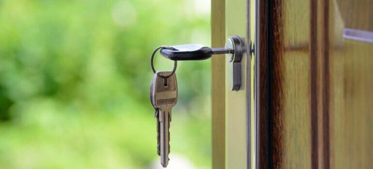 a key inside a lock