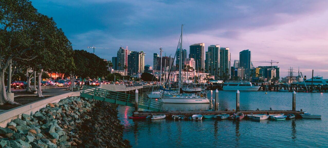 A landscape of San Diego.