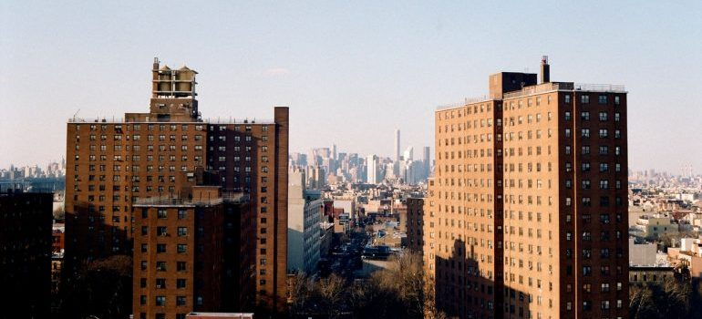 A view of the NYC cityscape, representing Briarwood NY movers.
