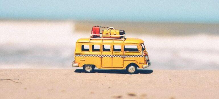 a vehicle on a beach