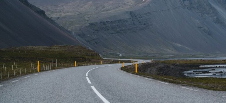 a curved road